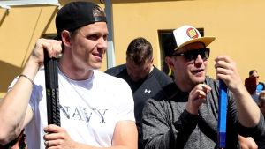 Leo Komarov och Jori Lehterä.
