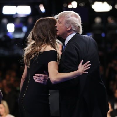 Donald Trump med hustrun Melania Trump.