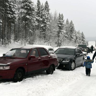 Rysk-finska gränsen 23.1.2016