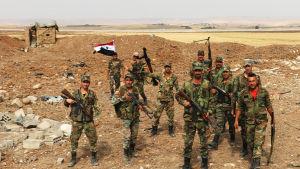 Syriska regeringsstyrkor har ersatt kurdiska soldater vid en del frontavsnitt i nordöstra Syrien