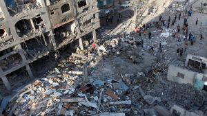Förödelse i Gaza.