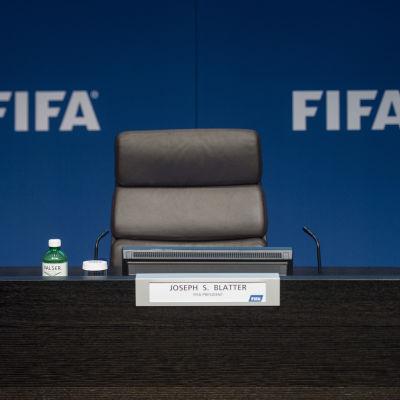 Fifas ordförande Sepp Blatters tomma stol
