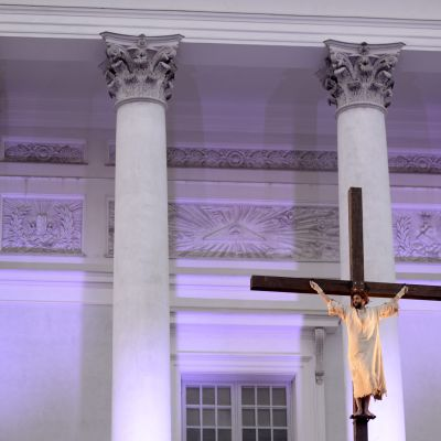 Skådespelaren Ilkka Villi spelade Jesus i årets uppsättning av Via Crucis.