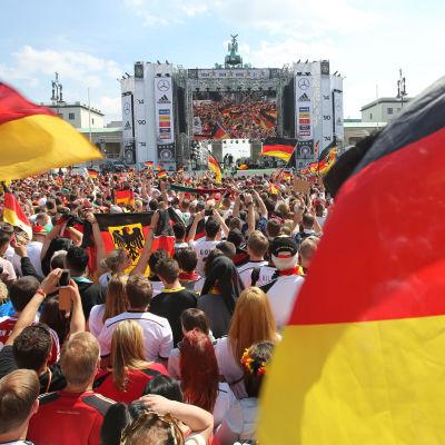 Berlin, Brandenburger Tor, Tysklands VM-fest