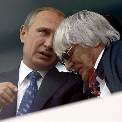Vladimir Putin och Bernie Ecclestone, Sotji, oktober 2015.