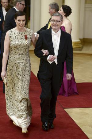 Maarit Feldt-Ranta och Vesa Kallionpää på slottsbalen