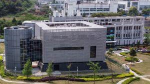 Det virologiska insitutet i Wuhan fotograferat den 17.4.