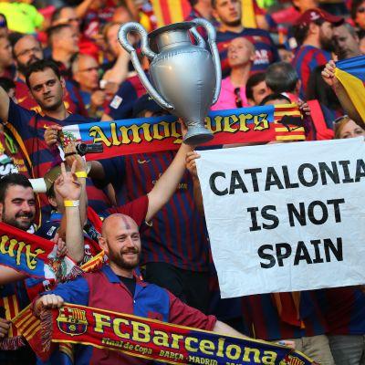 FC Barcelonan faneja Mestarien liiga -finaalissa