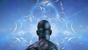 Konstnärens vision av en cyborg.