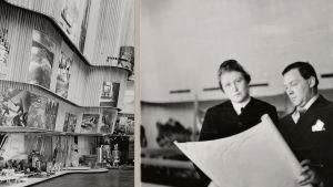 Alvar och Aino Aalto i samband med världsutställningen i New York 1939.