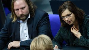 Anton Hofreiter och Katrin Goering-Eckardt från det tyska gröna partiet.