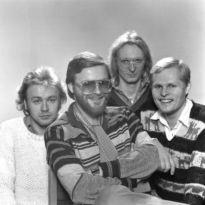 Piirpauke 1978. Olli-Pekka Wasama, Jukka Wasama, Juha Björninen, Sakari Kukko.