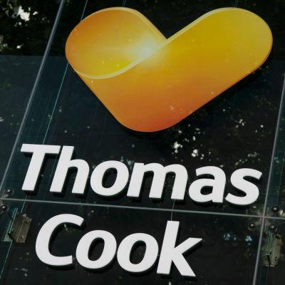 Thomas Cooks logo med mörkgrön bakgrund.