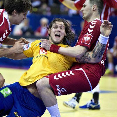 Andreas Nilsson, Sverige-Polen, handbolls-EM 2014