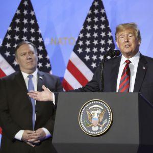President Trump höll tal under andra dagen av toppmötet.