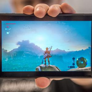 Nintendo Switch med Zelda: Breath of the Wild
