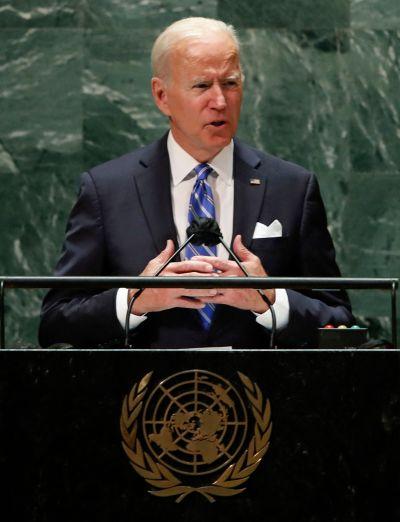 USA:s president Joe Biden håller tal inför FN:s generalförsamling 21.9.2021