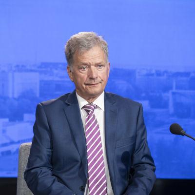 President Sauli Niinistö var gäst i Yles program Morgonettan i augusti 2020.