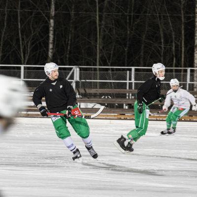 Lappeenrannan Veiterän kapteeni Janne Hauska joukkueen harjoituksissa.