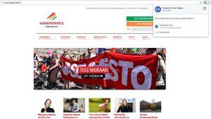 Vänsterförbundets webbplats.