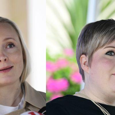 Maria Ohisalon ja Annika Saarikon kuvat vierekkäin.