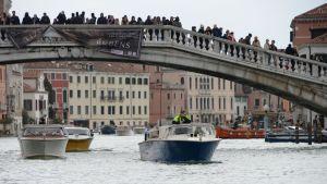 Översvämning i Venedig.