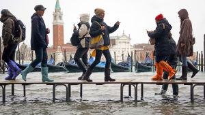 Översvämning i Venedig