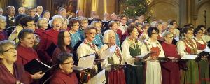 Kör som sjunger de vackraste julsångerna
