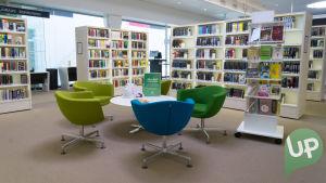 Lielahden kirjasto on yksin UP:n kuvauspaikoista.