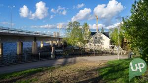 Tampereen navigaatioseuran talo on yksin UP:n kuvauspaikoista.