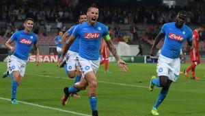 Marek Hamsik är lagkapten för italienska Napoli,