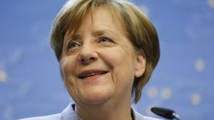 Tysklands förbundskansler Angela Merkel i Bryssel den 29 april 2017.