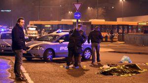 Misstänkte Berlinterroristen skjuten av polisen i Milano.