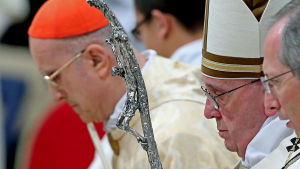 Påven Fransiscus julmässa 2015