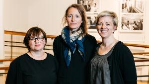 Shortdox tuomaristo Line Alsaker, Ruth Storm Madsen ja Laura Vehkaoja