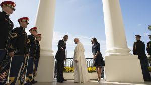 Påven Franciskus träffade USA:s president Barack Obama i Vita huset.