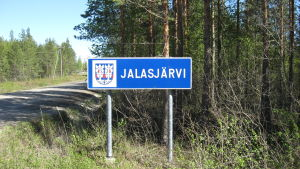 Jalasjärven kyltti.