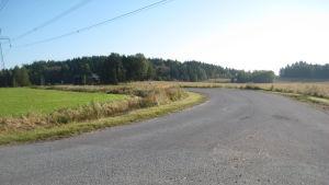 Torpmalmsvägen i Ingå.