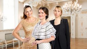 Modereferenterna Janina Fry, Pia-Maria Lehtola och Carolina Forss