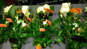 Flowers awaiting for the winners.