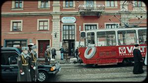 Stadsvy i Ukraina