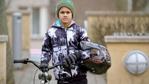 Ett av barnen från UR:s serie Superungar.