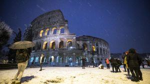 Kylig natt i Rom.