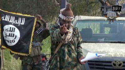 Den här bilden på Abubakar Shekau är tagen från en video som Boko Haram publicerade i oktober 2014.