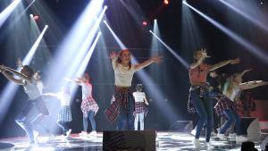 Dansarna i MGP 2017 under övningar inför finalen.