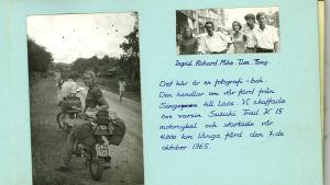 Sida ur Ingrids fotoalbum från 1965.