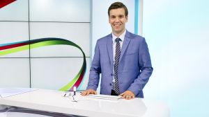 Daniel Olin i TV-Nytts studio