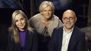 Sanna-Leena Perunka, Anne Flinkkilä ja Tapio Ojala