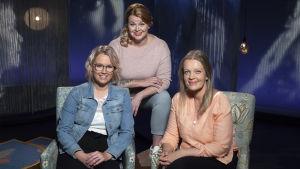 Laura Holmström, Ani Kellomäki ja Maarit Lassander