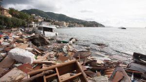 Stormskador i Rapallo.